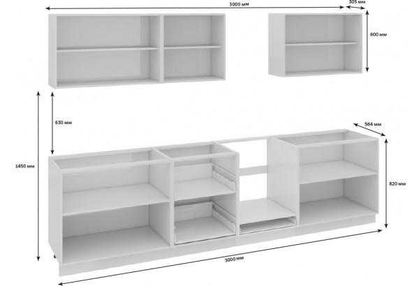 Кухонный гарнитур длиной - 300 см (со шкафом НБ) Фэнтези (Белый универс)/(Лайнс) - фото 3
