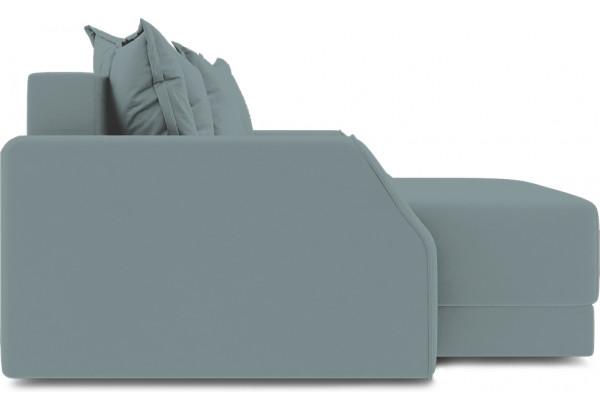 Диван угловой левый «Люксор Slim Т1» (Poseidon Lagoon (иск.замша) бледно-бирюзовый) - фото 5