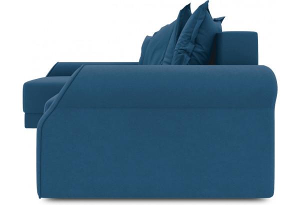 Диван угловой левый «Люксор Т2» Beauty 07 (велюр) синий - фото 3