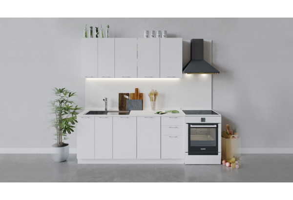 Кухонный гарнитур «Весна» длиной 180 см (Белый/Белый глянец) - фото 1