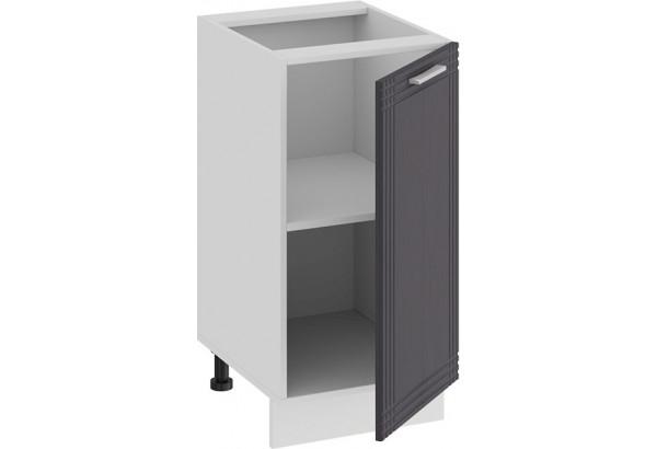 Шкаф напольный с одной дверью «Ольга» (Белый/Графит) - фото 2