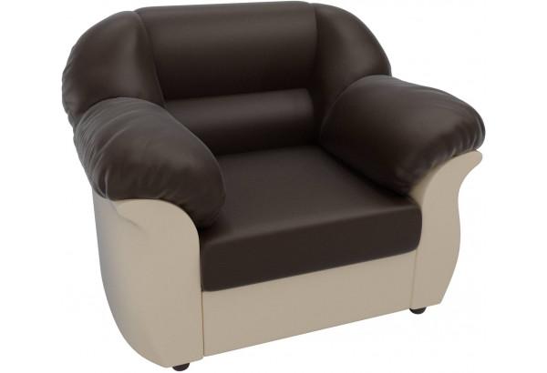 Кресло Карнелла Коричневый/Бежевый (Экокожа) - фото 3