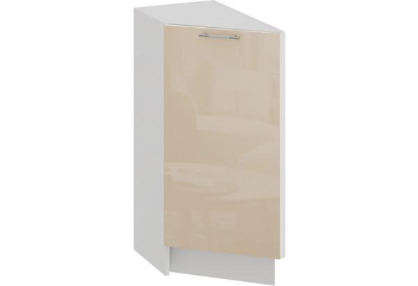 Шкаф напольный торцевой с одной дверью «Весна» (Белый/Ваниль глянец) - фото 1
