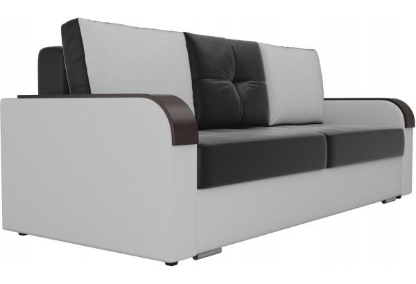 Прямой диван Мейсон Черный/Белый (Экокожа) - фото 3