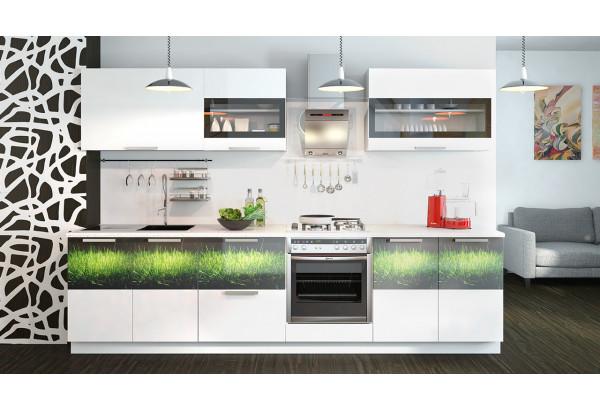 Кухонный гарнитур длиной - 300 см (со шкафом НБ) Фэнтези (Белый универс)/(Грасс) - фото 2