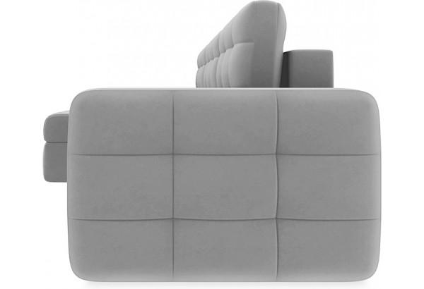 Диван угловой левый «Райс Slim Т1» (Neo 07 (рогожка) светло-серый) - фото 3