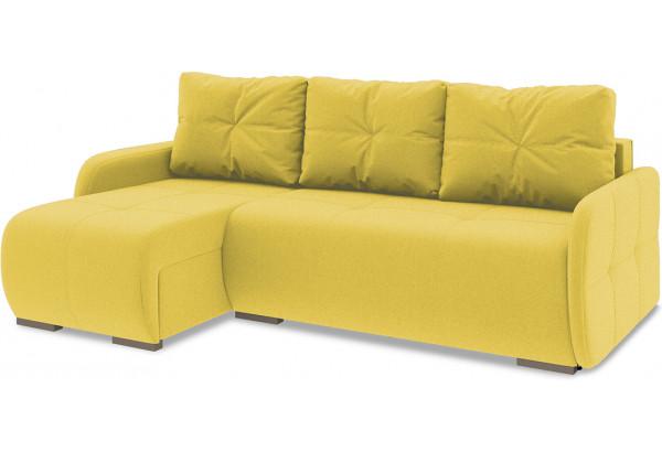 Диван угловой левый «Томас Slim Т1» Neo 08 (рогожка) желтый - фото 1