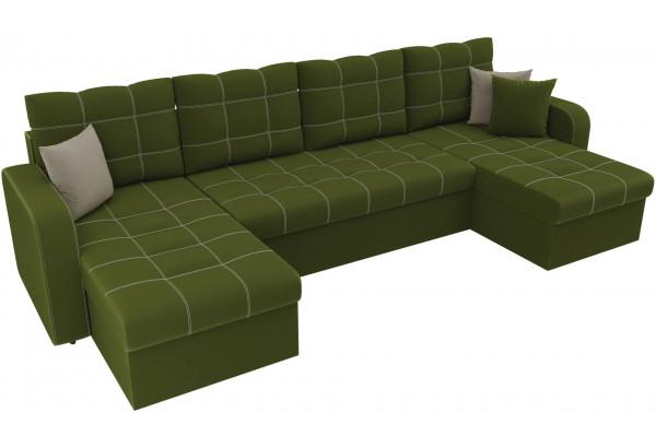 П-образный диван Ливерпуль Зеленый (Микровельвет) - фото 4