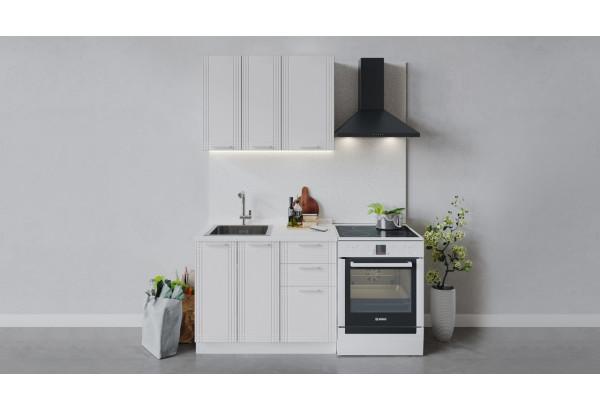 Кухонный гарнитур «Ольга» длиной 100 см (Белый/Белый) - фото 1
