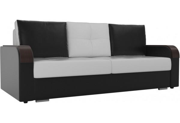 Прямой диван Мейсон Белый/Черный (Экокожа) - фото 1