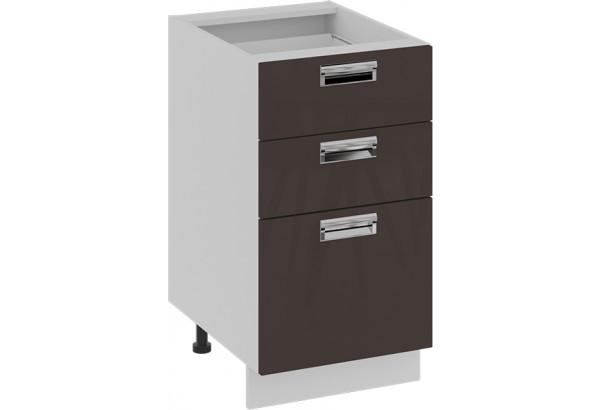 Шкаф напольный с 3-мя ящиками БЬЮТИ (Грэй) - фото 1
