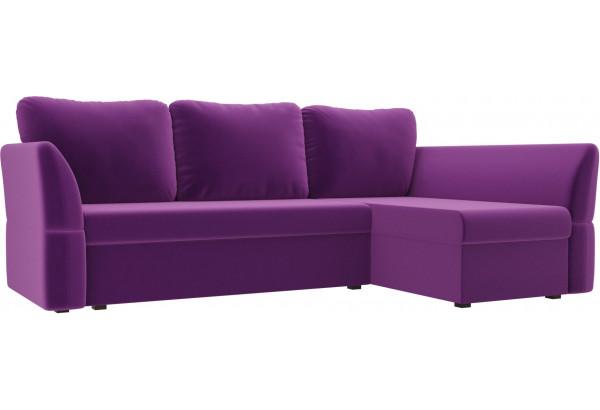Угловой диван Гесен Фиолетовый (Микровельвет) - фото 1