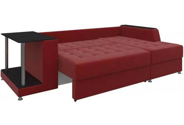 Угловой диван Атланта Красный (Микровельвет) - фото 3