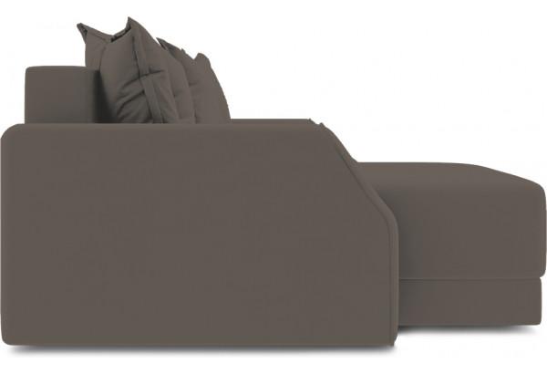 Диван угловой левый «Люксор Slim Т1» (Poseidon Coffee (иск.замша) коричневый) - фото 5