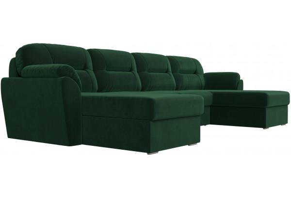 П-образный диван Бостон Зеленый (Велюр) - фото 3