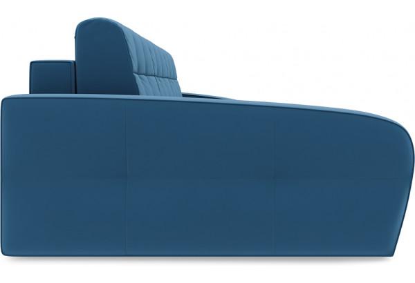 Диван угловой левый «Аспен Slim Т2» (Beauty 07 (велюр) синий) - фото 4