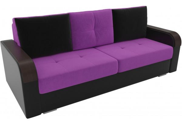 Прямой диван Мейсон Фиолетовый/Черный (Микровельвет/Экокожа) - фото 4