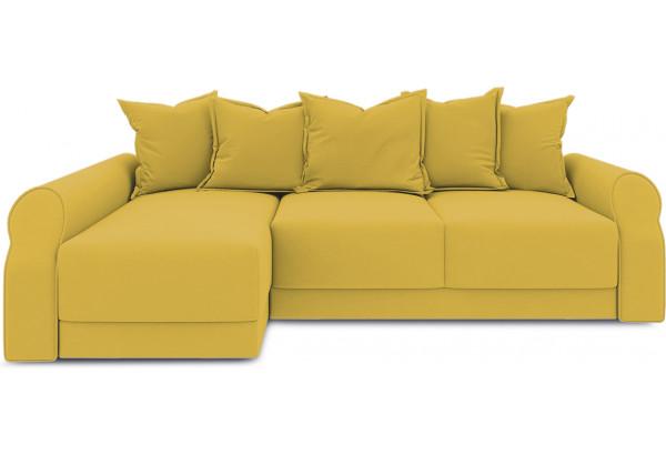 Диван угловой левый «Люксор Т2» (Poseidon Curcuma (иск.замша) желтый) - фото 2