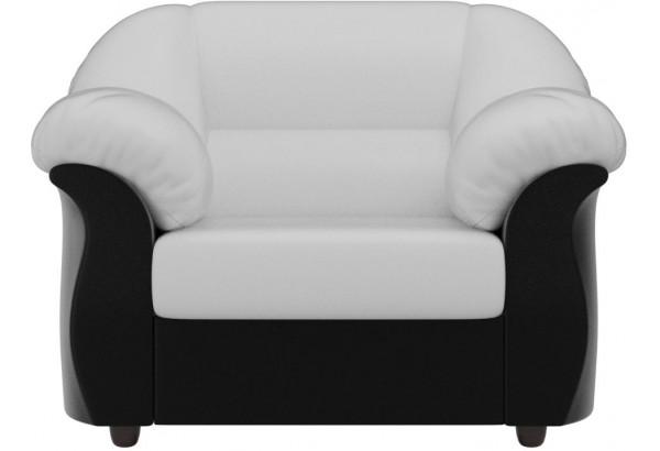 Кресло Карнелла Белый/Черный (Экокожа) - фото 2