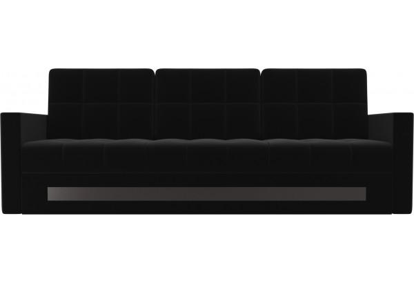 Диван прямой Белла Черный (Микровельвет) - фото 2