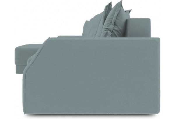 Диван угловой левый «Люксор Slim Т1» (Poseidon Lagoon (иск.замша) бледно-бирюзовый) - фото 3