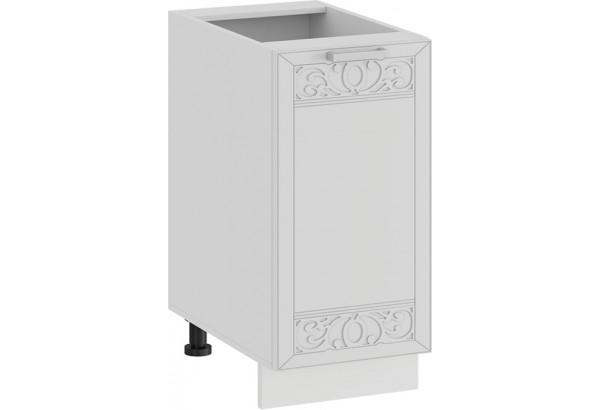 Шкаф напольный с одной дверью «Долорес» (Белый/Сноу) - фото 1
