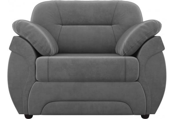 Кресло Бруклин Серый (Велюр) - фото 2