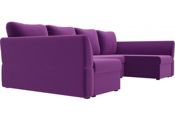 П-образный диван Гесен Фиолетовый (Микровельвет) - фото 3