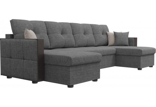 П-образный диван Валенсия Серый (Рогожка) - фото 3