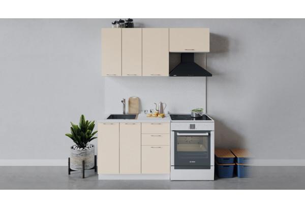 Кухонный гарнитур «Весна» длиной 160 см (Белый/Ваниль глянец) - фото 1