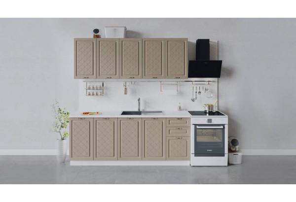 Кухонный гарнитур «Бьянка» длиной 200 см (Белый/Дуб кофе) - фото 1