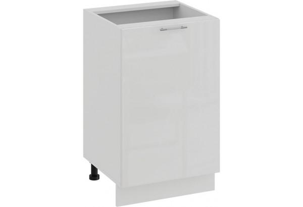 Шкаф напольный с одной дверью «Весна» (Белый/Белый глянец) - фото 1
