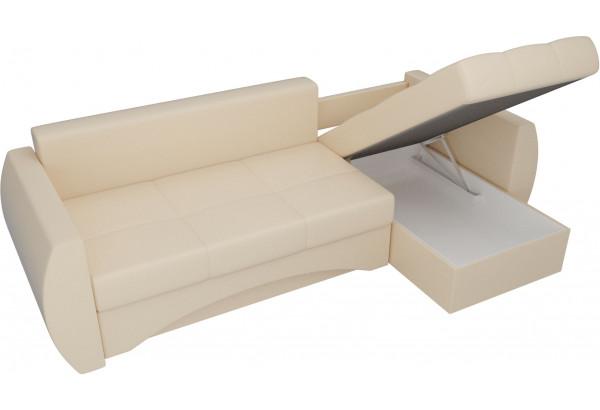 Угловой диван Сатурн Бежевый (Экокожа) - фото 5