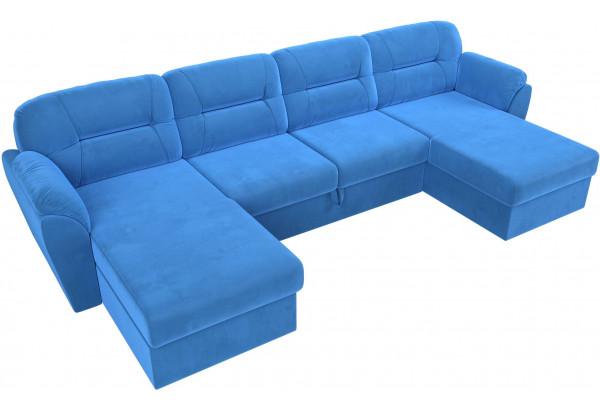 П-образный диван Бостон Голубой (Велюр) - фото 5