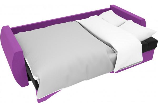 Угловой диван Сатурн черный/фиолетовый (Микровельвет) - фото 7