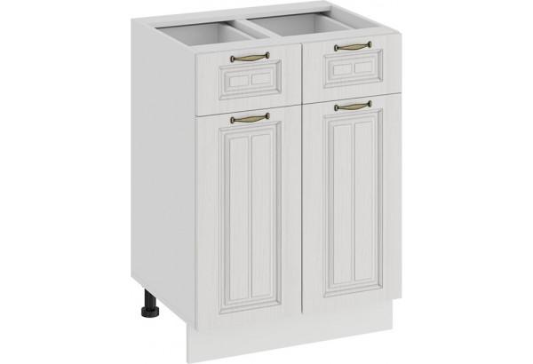Шкаф напольный с двумя ящиками и двумя дверями «Лина» (Белый/Белый) - фото 1