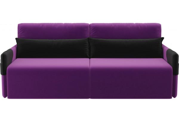 Прямой диван Армада Фиолетовый/Черный (Микровельвет) - фото 2