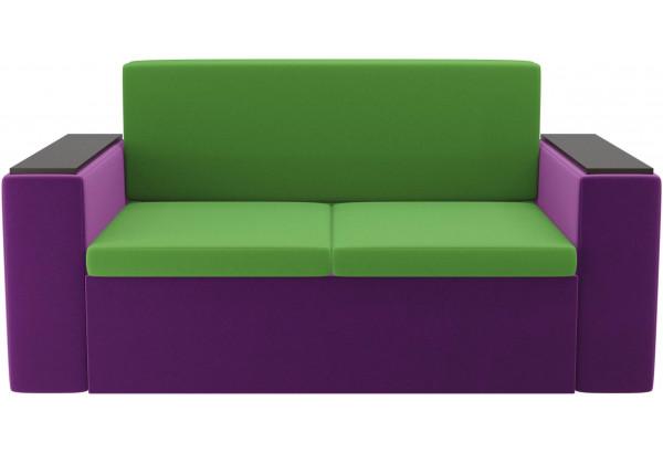 Детский диван Арси зеленый/фиолетовый (Микровельвет) - фото 2