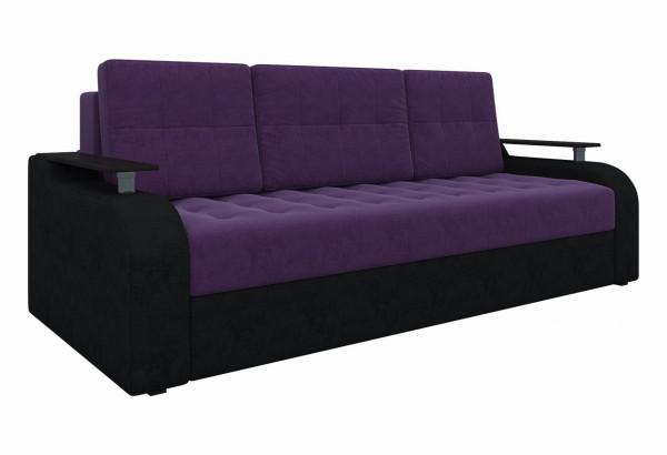 Диван прямой Ричард Фиолетовый/Черный (Микровельвет) - фото 1