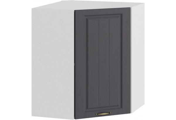 Шкаф навесной угловой «Лина» (Белый/Графит) - фото 1