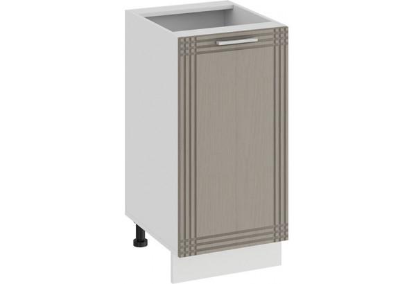 Шкаф напольный с одной дверью «Ольга» (Белый/Кремовый) - фото 1