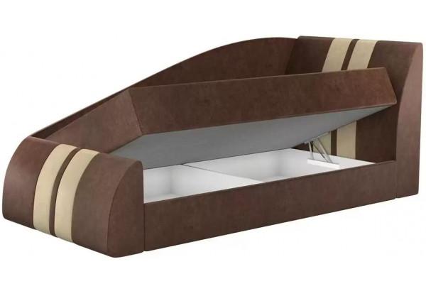 Детская кровать Мустанг Коричневый (Микровельвет) - фото 2