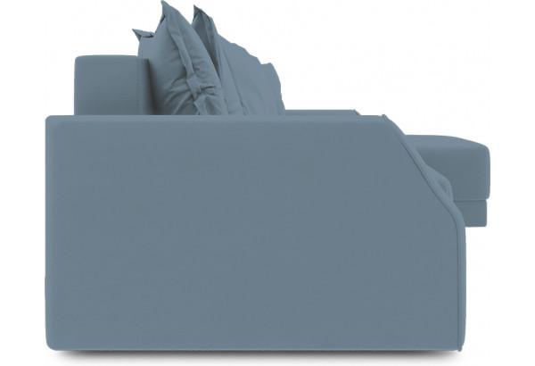 Диван угловой правый «Люксор Slim Т1» (Poseidon Ocean (иск.замша) серо-голубой) - фото 3