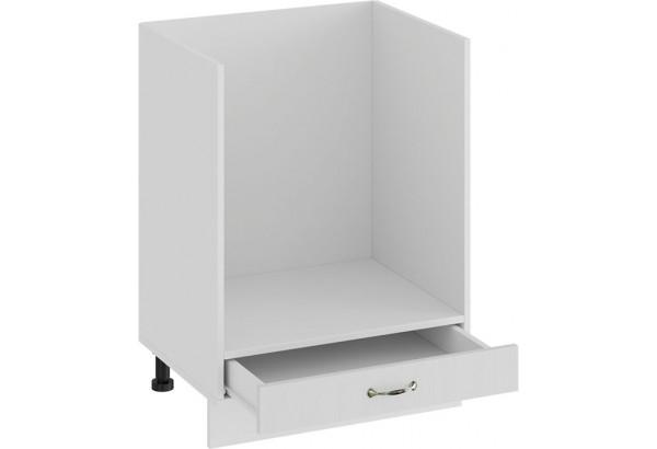 Шкаф напольный под бытовую технику «Бьянка» (Белый/Дуб белый) - фото 2