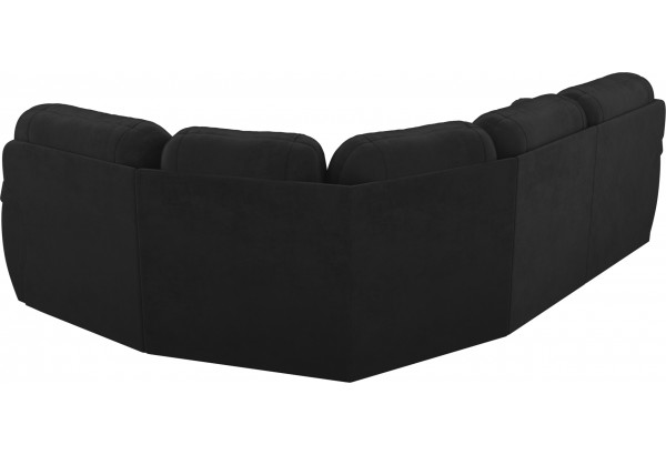 Угловой диван Бруклин Черный (Велюр) - фото 6