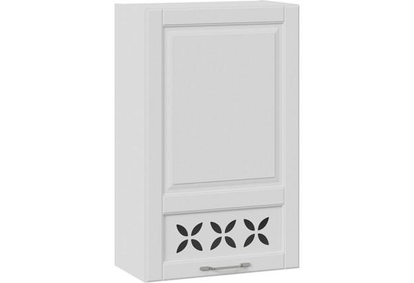 Шкаф навесной c декором (правый) (СКАЙ (Белоснежный софт)) - фото 1