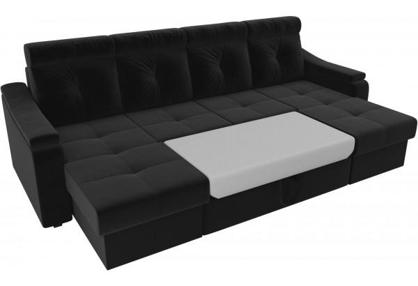 П-образный диван Джастин Черный (Микровельвет) - фото 6
