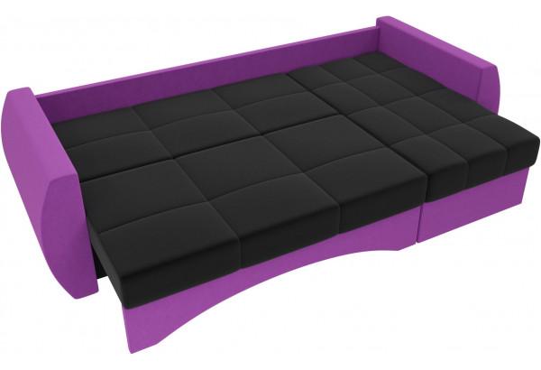 Угловой диван Сатурн черный/фиолетовый (Микровельвет) - фото 6