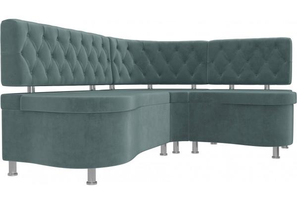 Кухонный угловой диван Вегас бирюзовый (Велюр) - фото 3