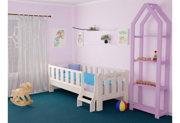Детская кровать «Сказка» с лестницей - фото 1